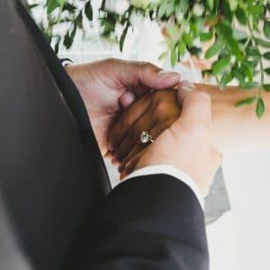 Bague de fiançailles avec diamant