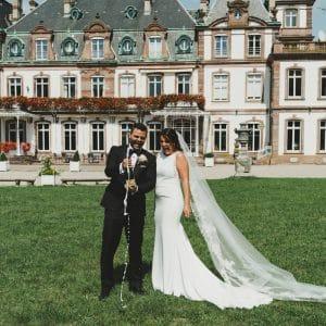 Champagne après la cérémonie pour mariage américain