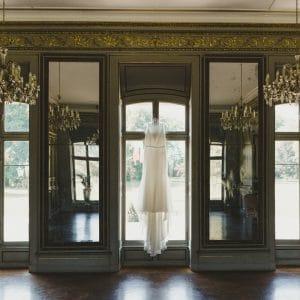 Robe de mariée dans un château de princesse