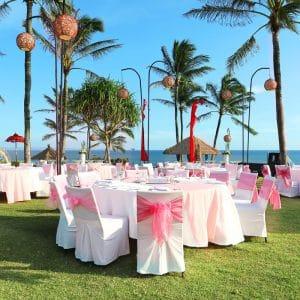 Dîner de mariage aux Bahamas avec wedding planner