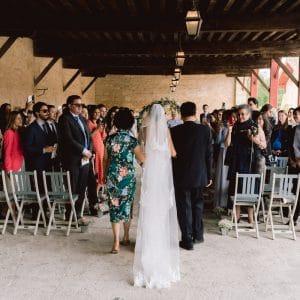 Cérémonie de mariage en plein coeur des vignobles bordelais