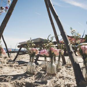 Cérémonie laïque sur la plage du Cap Ferret