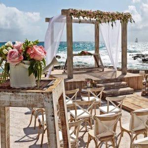 Cérémonie sur la plage au Mexique