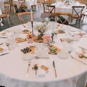 Table de mariage dans un château bordelais