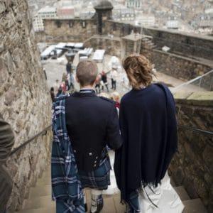 Couple de Français pour mariage à Edimbourg
