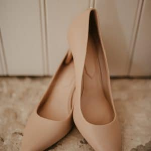 Chaussures de mariée nude en Provence