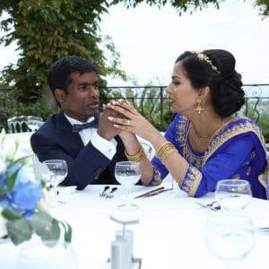 Dîner romantique pour mariage indien