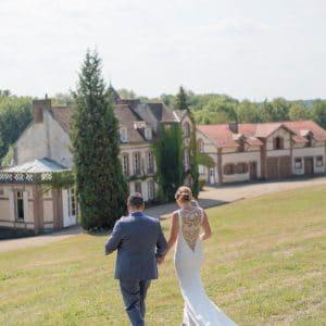 Couple de mariés Anglais en Normandie