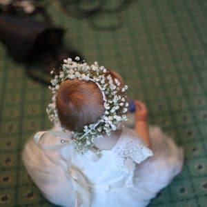 Couronne de fleurs pour bébé