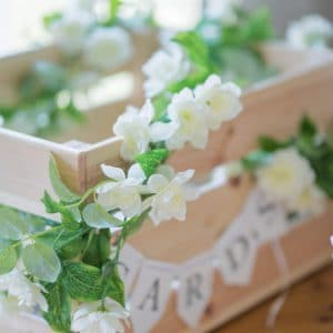Décoration de mariage blanc et vert