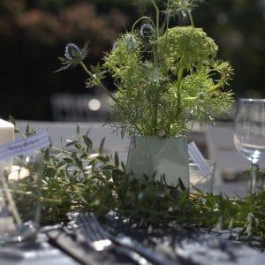 Décoration de table naturelle et bucolique