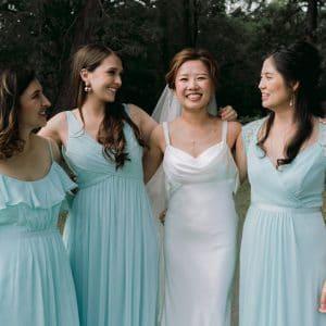 La Mariée et ses demoiselles d'honneur lors d'un mariage à Bordeaux
