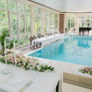 Dîner de mariage aux Jardins d'Epicure près de Paris