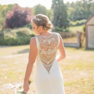 Incroyable dos de robe de mariée en France