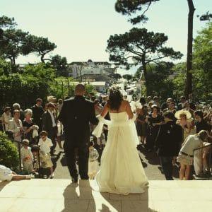 Eglise du Moulleau lors d'un mariage