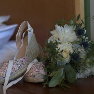 Espadrilles de mariée pour ambiance décontractée