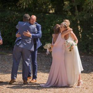 Félicitations après cérémonie de mariage en Normandie