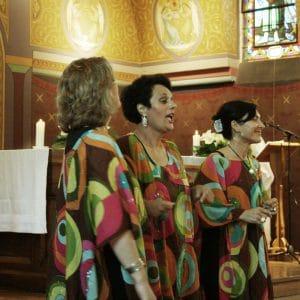 Groupe de gospel dans une église du Bassin d'Arcachon