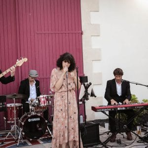 Groupe de musique lors d'un mariage bordelais