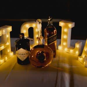 Tequila pour bar de nuit de mariage
