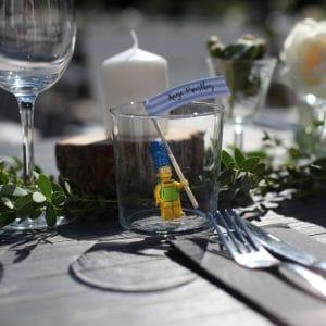 Marque-place Simpson pour mariage sympa