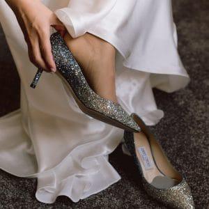 Chaussures de mariée Jimmy Choo avec strass