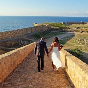 Mariage en Crète au bord de l'eau