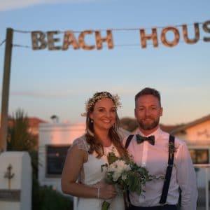 Mariage de surfers à la Beach House d'Anglet