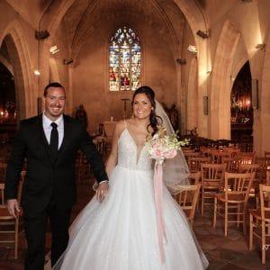 Jeunes mariés à l'église de Bordeaux