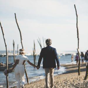 Organisation de mariage sur la plage au Cap Ferret