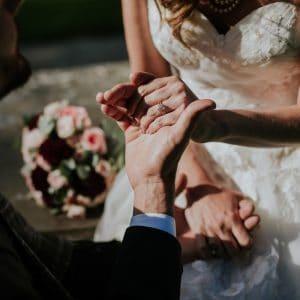 Séance photo lors d'un mariage à Edimbourg pour Français