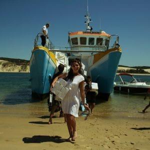 Pique-nique sur la plage pour le lendemain de mariage