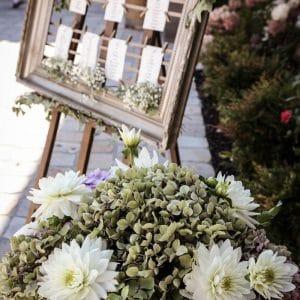 Plan de table pour mariage romantique et fleuri