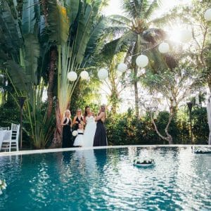Beach party à Bali pour un beau mariage