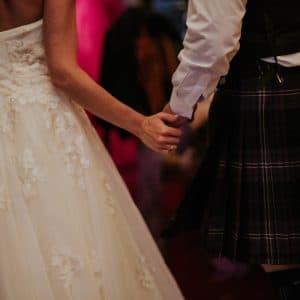 Première danse lors d'un mariage écossais