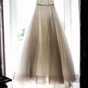 Robe de mariée de princesse avec strass et tulle