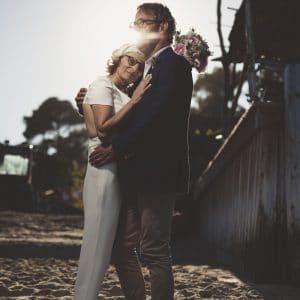 Shooting romantique sur la plage du Bassin d'Arcachon