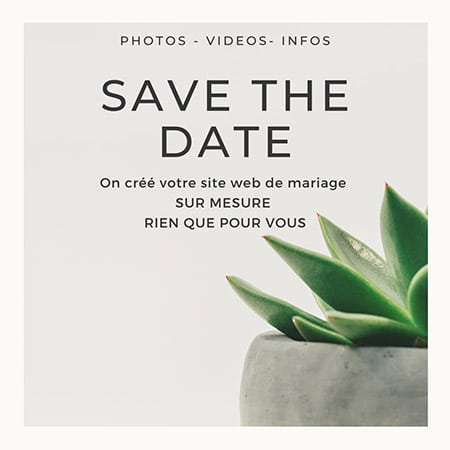 Save the Date et création de site internet