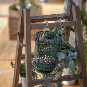Bougies et photophores pour mariage élégant