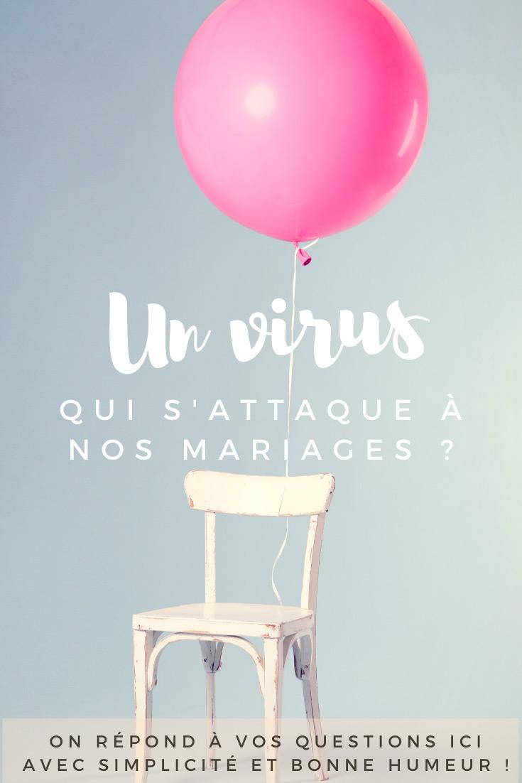 Un virus qui s'attaque aux mariages en article de blog NOCES DU MONDE