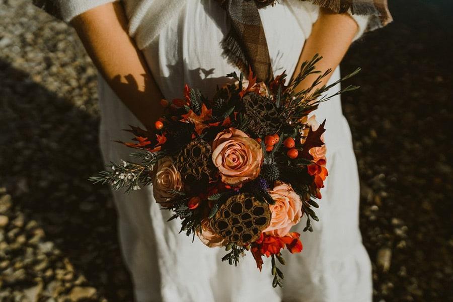 Bouquet de Mariée automnal pour mariage d'Automne